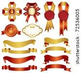 set of ribbon | Shutterstock .eps vector #72536005