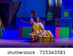 Small photo of DNIPRO, UKRAINE - SEPTEMBER 30, 2017: Pippi Long Stocking performed by members of the Zaporizhzhya Academic Regional Ukrainian Music and Drama Theater named after Volodymyr Magar .