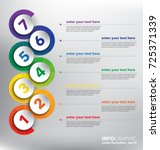 vertical timeline infographic...   Shutterstock .eps vector #725371339