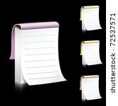 vector notebook illustration | Shutterstock .eps vector #72537571