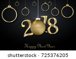 2018 happy new year background... | Shutterstock .eps vector #725376205