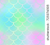 magic mermaid fishscale pattern.... | Shutterstock .eps vector #725376505