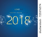 new year 2018 loading spark... | Shutterstock .eps vector #725376574