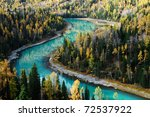 Crescent Shaped River Across...