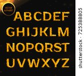 glowing font   Shutterstock .eps vector #725388805