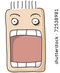 open mouth | Shutterstock .eps vector #72538981