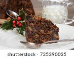 closeup christmas pudding with...