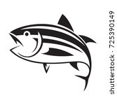 graphic tuna fish  vector | Shutterstock .eps vector #725390149