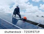 engineer team working on... | Shutterstock . vector #725393719
