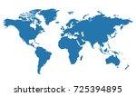 world map illustration.... | Shutterstock .eps vector #725394895