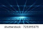 abstract futuristic technology... | Shutterstock . vector #725395375