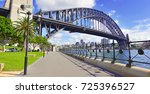 panorama of sydney harbour... | Shutterstock . vector #725396527