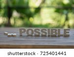 the letters word impossible in... | Shutterstock . vector #725401441