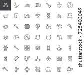 plumbing line icons set ...   Shutterstock .eps vector #725403049