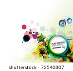 Abstract Colorful Circle Vecto...