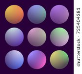 modern 3d gradient set with...