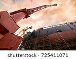 shipbuilding plant | Shutterstock . vector #725411071