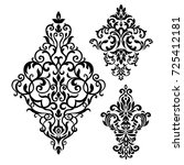 set of oriental vector damask... | Shutterstock .eps vector #725412181