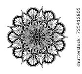 mandala for coloring book.... | Shutterstock .eps vector #725412805