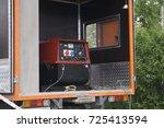 industrial diesel generator....   Shutterstock . vector #725413594