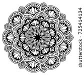mandala for coloring book.... | Shutterstock .eps vector #725414134