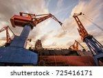 shipbuilding plant | Shutterstock . vector #725416171