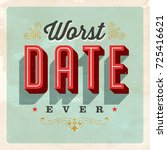 vintage style postcard   worst... | Shutterstock .eps vector #725416621