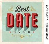 vintage style postcard   best... | Shutterstock .eps vector #725416645