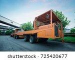 liquid steel truck | Shutterstock . vector #725420677