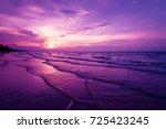 nature in twilight period ... | Shutterstock . vector #725423245