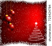 christmas background with... | Shutterstock .eps vector #725424784