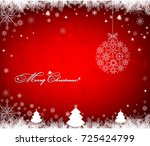christmas background with... | Shutterstock .eps vector #725424799