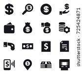 16 vector icon set   dollar ... | Shutterstock .eps vector #725424871