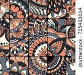 seamless pattern tile with... | Shutterstock .eps vector #725432014