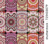 seamless pattern tile with... | Shutterstock .eps vector #725433079