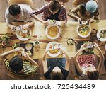 group of friend take a picture... | Shutterstock . vector #725434489