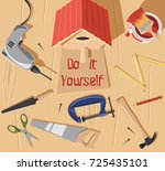 do it  yourself bird house | Shutterstock .eps vector #725435101