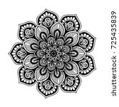 mandalas for coloring book.... | Shutterstock .eps vector #725435839