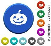 halloween pumpkin round color... | Shutterstock .eps vector #725443234