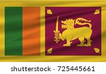 flag of sri lanka | Shutterstock .eps vector #725445661