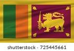 flag of sri lanka   Shutterstock .eps vector #725445661
