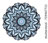 hand drawn decorative mandala... | Shutterstock .eps vector #725467711