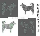 stylized model of a polygonal... | Shutterstock .eps vector #725467999