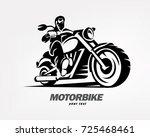 biker  motorcycle grunge vector ... | Shutterstock .eps vector #725468461