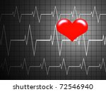 red heart shined on a... | Shutterstock . vector #72546940
