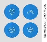 set of 4 camping outline icons... | Shutterstock .eps vector #725471995