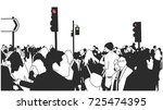 illustration of crowd of people ... | Shutterstock .eps vector #725474395