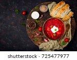 traditional ukrainian russian... | Shutterstock . vector #725477977