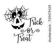 halloween pumpkin face with... | Shutterstock .eps vector #725479105