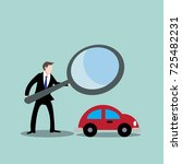 businessman with magnifying... | Shutterstock .eps vector #725482231